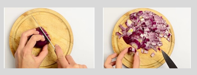how to chop onion