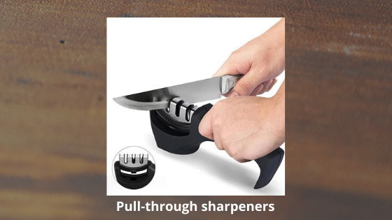 Pull through sharpeners